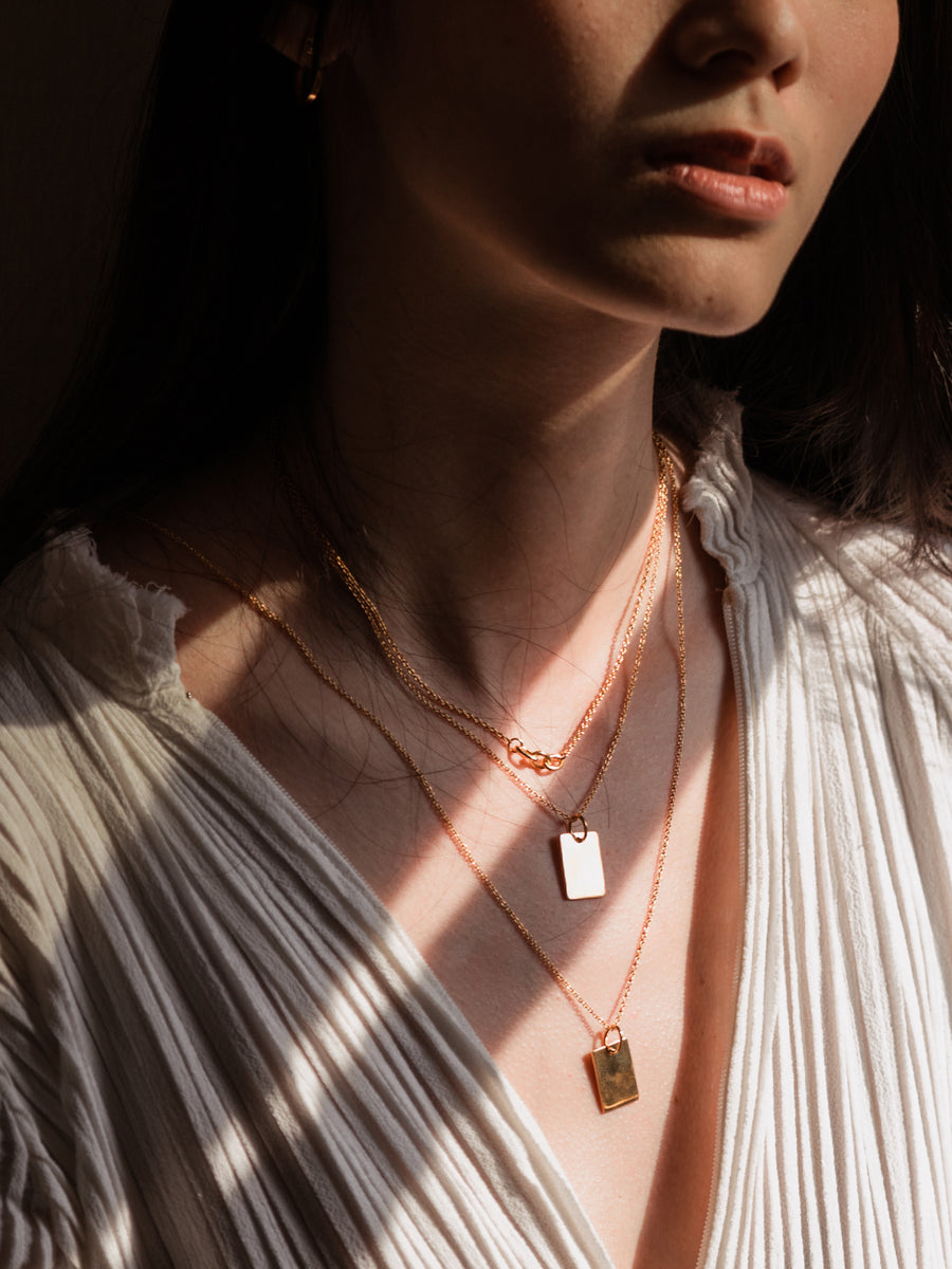 Canvas Pendant - Rose Gold