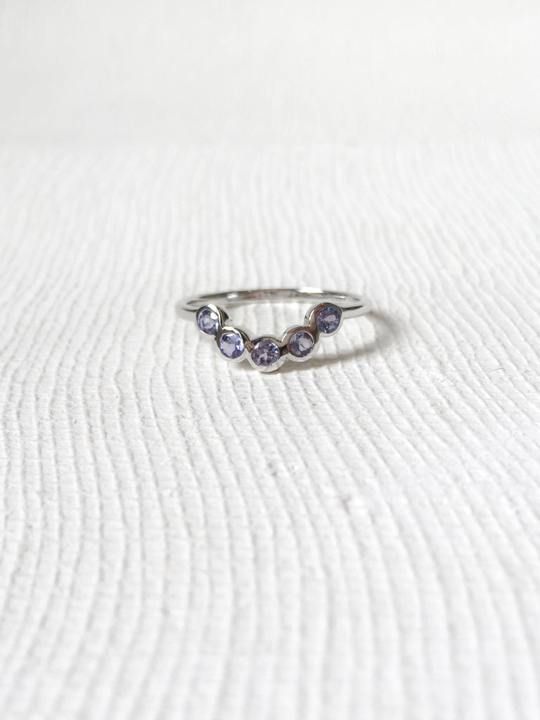 The Curve Ring - Tanzanite on Silver