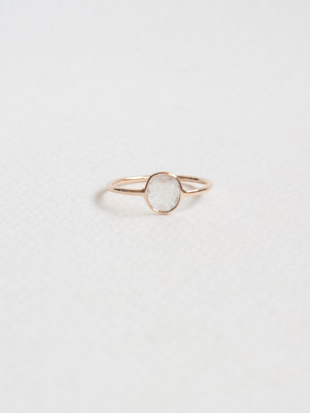 One-of-a-kind Sliced Diamond Ring in 18k Rose Gold