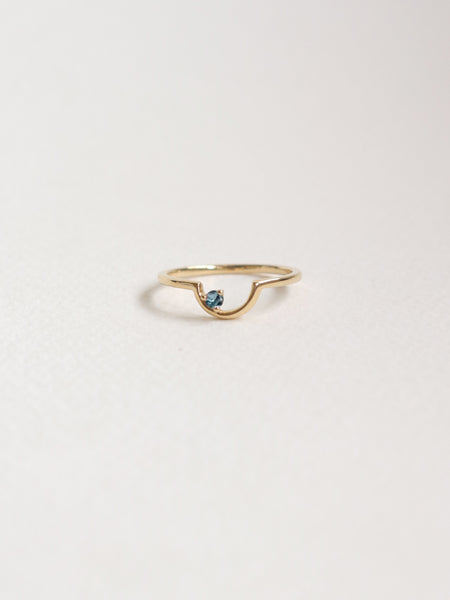 Pre-order Bailee Ring - Teal-Blue Sapphire in 18k Gold