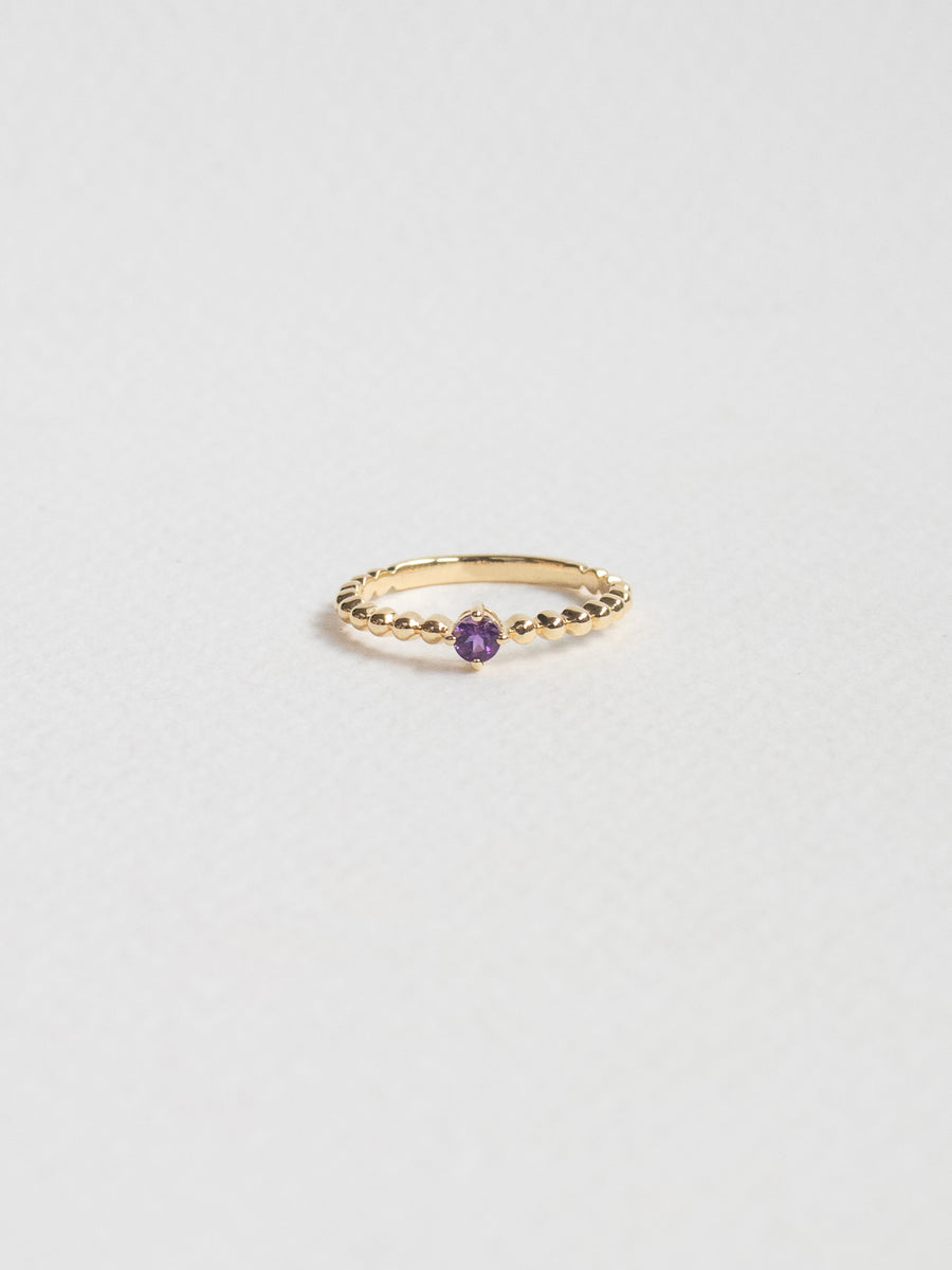 Birthstone Ring - February - Amethyst