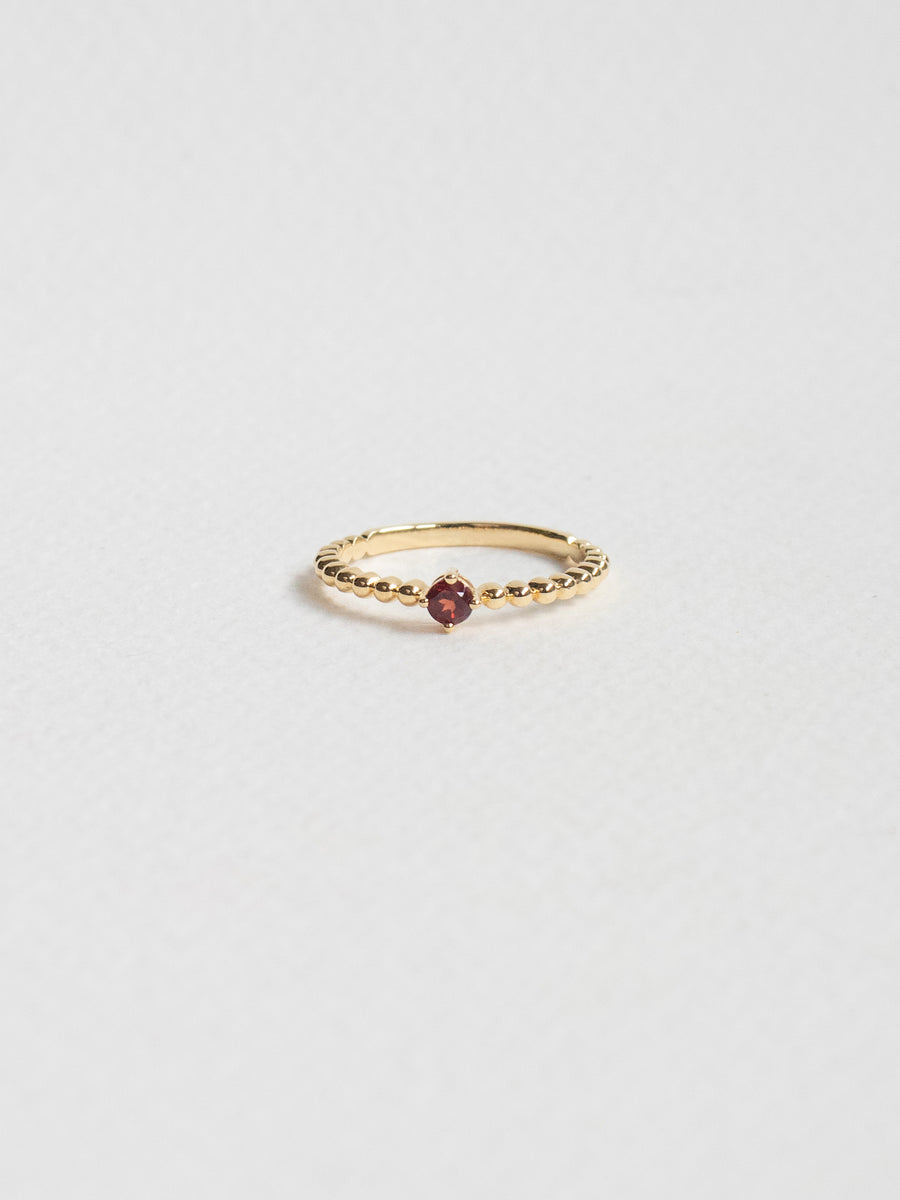 Birthstone Ring - January - Garnet