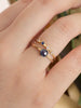 Pre-order Compass Ring - Blue Rose-cut Sapphire in 18k Gold