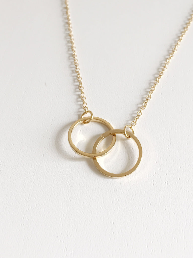 Everyday Necklace - Double Circle