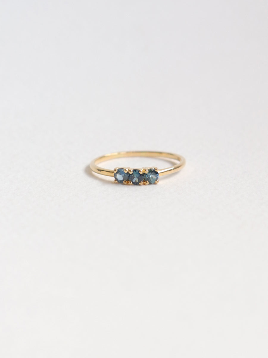 Pre-order Pebbles Ring - Shades of Blue Sapphires in 18k Gold