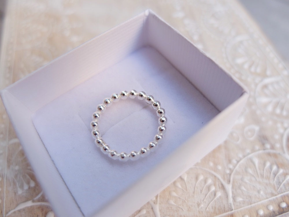 Luxe Bubble Ring ~ 925 Sterling Silver Large Bubbles #173