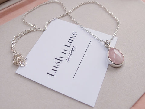 Pallas Pendant Necklace ~ Large Morganite #187