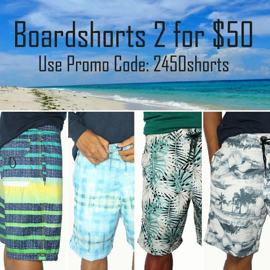 Boardshorts Promo- Get 2 for $50 - Baki Clothing Company
