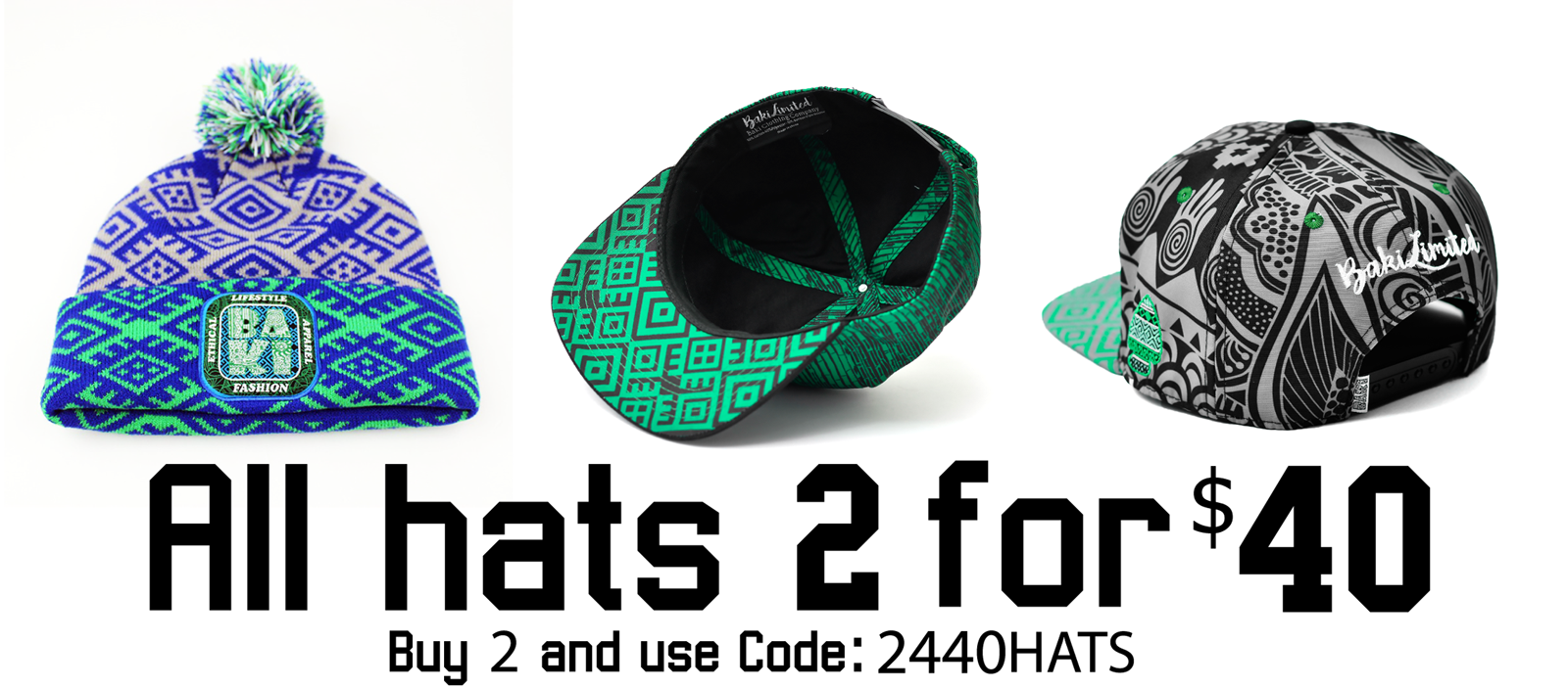 Limited Time Offer-All Hats 2 for $40 + Free Shipping