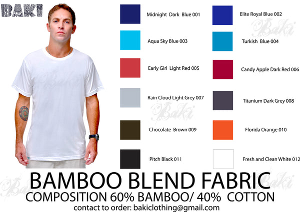 Get your Custom made Bamboo Blank T-shirts now...