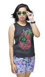 Flora Bamboo Ladies Tank Top - Baki Lifestyle Apparel- Made from Bamboo - 1
