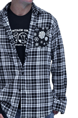 The Baki Snowflake Flannel - Baki Lifestyle Apparel- Made from Bamboo - 1