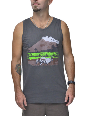 Indo Life Bamboo Mens Tank Top - Baki Lifestyle Apparel- Made from Bamboo - 1