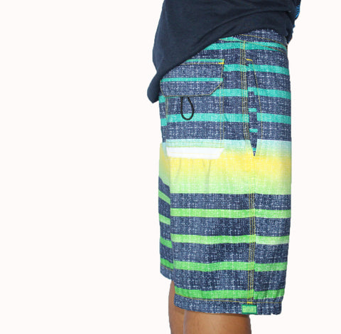 The Lo-Fi Stripe Blue Boardshorts