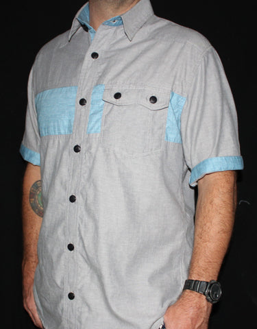 The Blue Safari Button Shirt