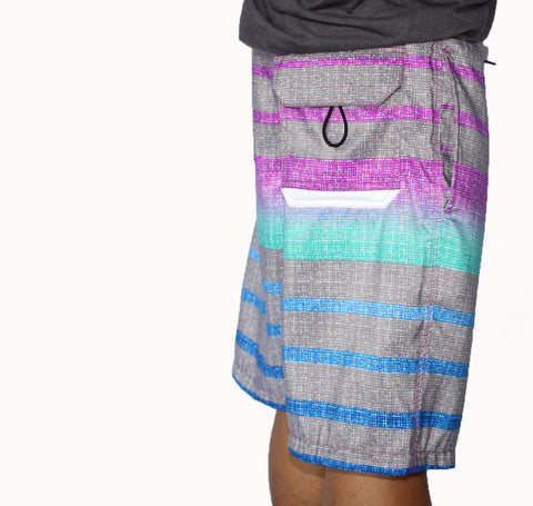 The Lo-Fi Stripe Grey Boardshorts