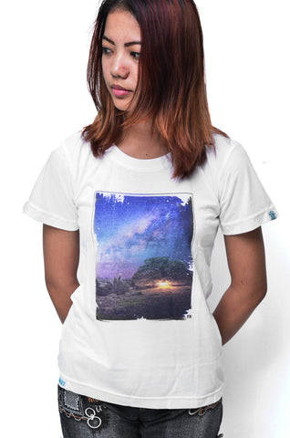 Baki x FH Ladies Milky Way Bamboo Tshirt - Baki Lifestyle Apparel- Made from Bamboo - 1