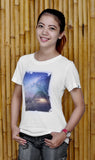 Baki x FH Ladies Milky Way Bamboo Tshirt - Baki Lifestyle Apparel- Made from Bamboo - 2