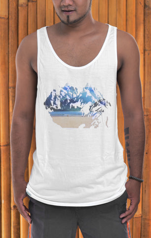 Baki x FH Mens Mt. Beach Bamboo Tank Top - Baki Lifestyle Apparel- Made from Bamboo