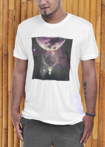 Baki x FH Mens Antler Bamboo Tshirt - Baki Lifestyle Apparel- Made from Bamboo