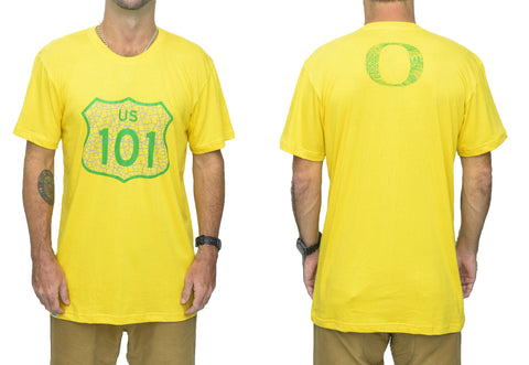 Oregon Hwy 101 Bamboo Mens Tshirt - Baki Lifestyle Apparel- Made from Bamboo - 1