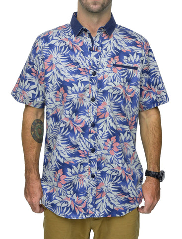 Mens Floral Short Sleeve Shirt - Baki Lifestyle Apparel- Made from Bamboo - 3