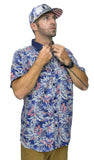 Mens Floral Short Sleeve Shirt - Baki Lifestyle Apparel- Made from Bamboo - 4