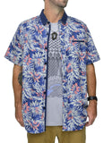 Mens Floral Short Sleeve Shirt - Baki Lifestyle Apparel- Made from Bamboo - 1