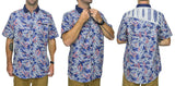 Mens Floral Short Sleeve Shirt - Baki Lifestyle Apparel- Made from Bamboo - 2