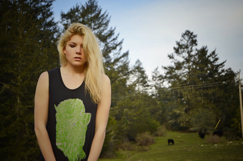Bison Bamboo Ladies Tank Top - Baki Lifestyle Apparel- Made from Bamboo - 1