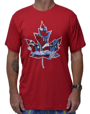 Maple Leaf bamboo Mens Tshirt - Baki Lifestyle Apparel- Made from Bamboo - 1