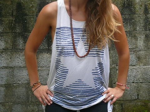 Luxury Star Ladies Long Tank - Baki Lifestyle Apparel- Made from Bamboo