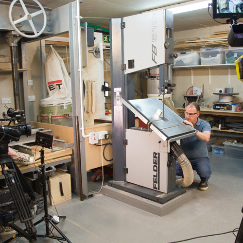 Behind the scenes... Peter Sefton's new Wood Machining DVDs