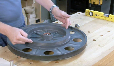 Balancing Bandsaw Wheels on a Bench with Peter Sefton