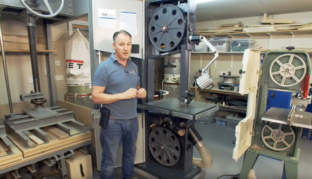 Balancing Bandsaw Wheels on the Machine with Peter Sefton