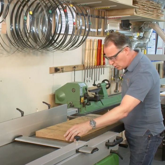 How to surface plane a twisted board safely on a Jointer Planer to produce a face side