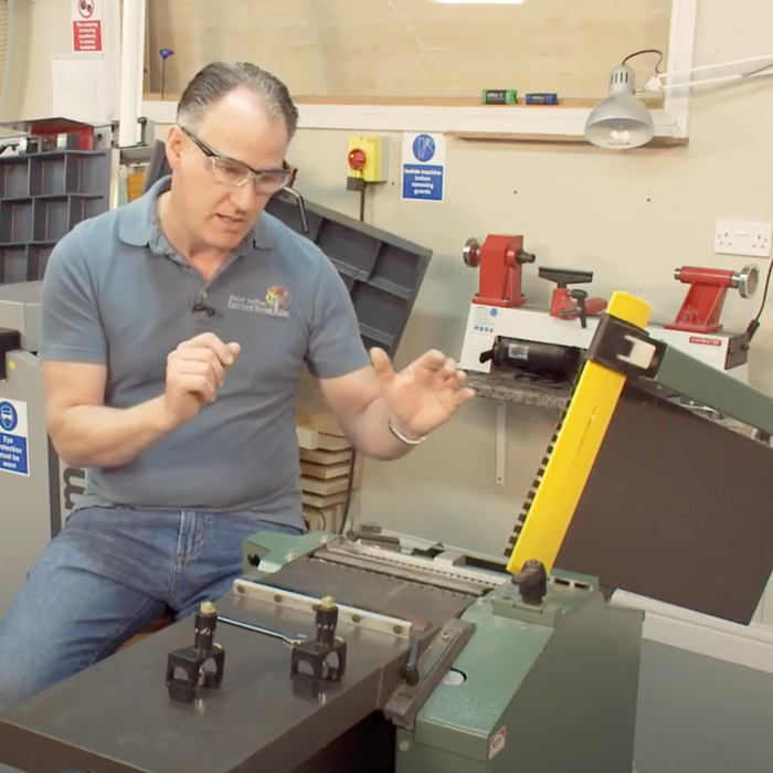 How to set planer blades in a cutting block on a Jointer or Thickness planer