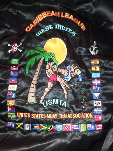 CARIBBEAN LEAGUE SATIN JACKET