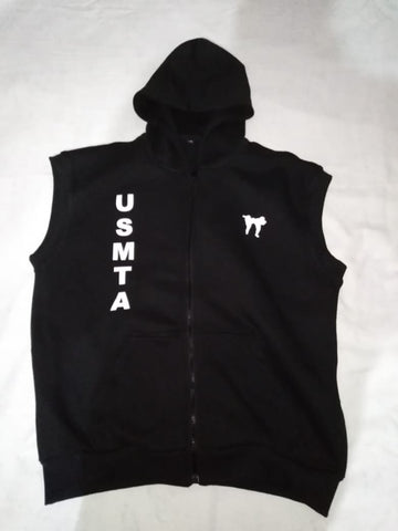 MEN'S SLEEVELESS ZIP UP HOODIES