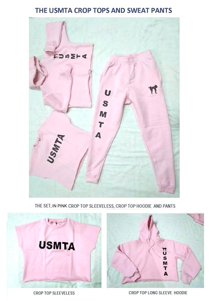 USMTA CROP TOPS AND SWEATPANTS