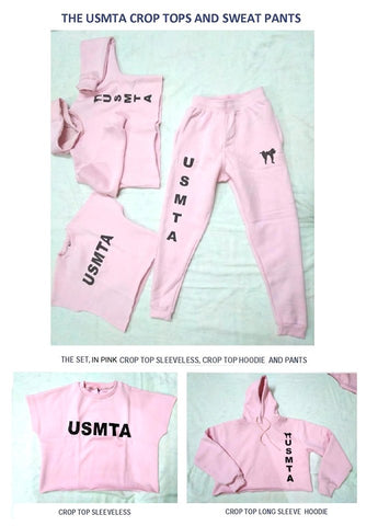 USMTA CROP TOPS AND SWEATPANTS COMBO