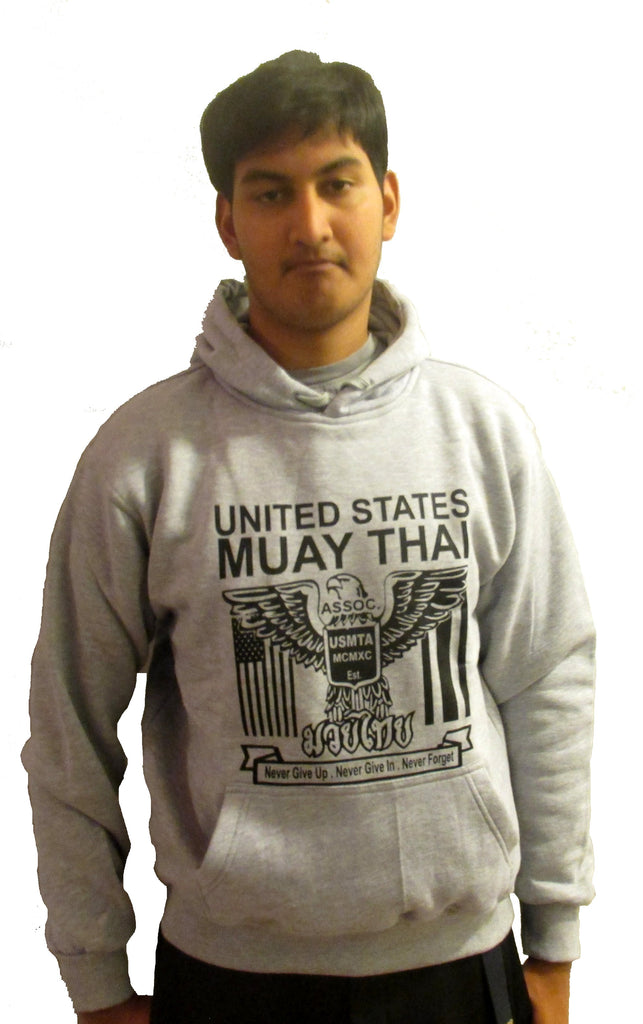 USMTA LIGHT GREY  EAGLE WITH BLACK PRINT HOODIE