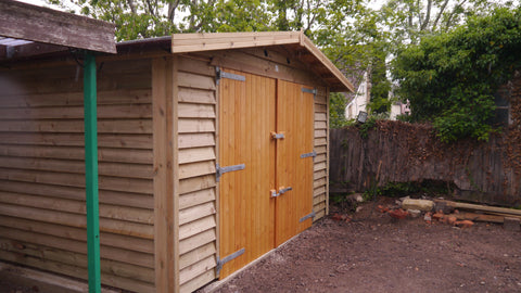 Mr M – Chesterton, Oxon – 12ft x 20ft Single Timber Feather Edge Garage, Completed Photo 2