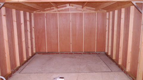 Mr M – Chesterton, Oxon – 12ft x 20ft Single Timber Feather Edge Garage, Internal Photo 1