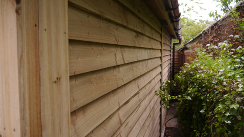 Mr M – Chesterton, Oxon – 12ft x 20ft Single Timber Feather Edge Garage, Completed Photo 3