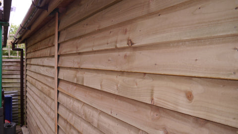 Mr M – Chesterton, Oxon – 12ft x 20ft Single Timber Feather Edge Garage, Completed Photo 4