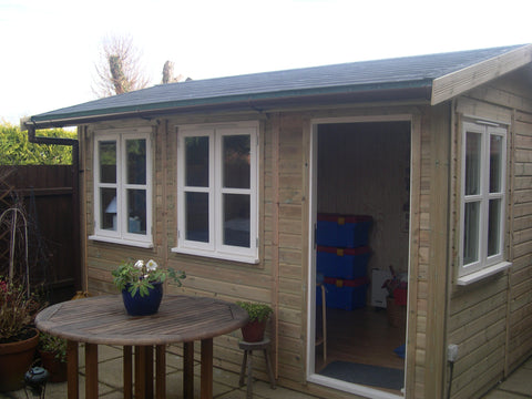 Mrs K – Sturminster Marshall, Dorset – 12ft x 8ft Traditional – 2.5m High Garden Office or Garden Room Completed Photo 1