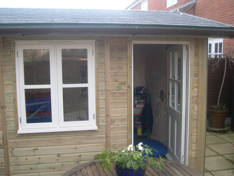Mrs K – Sturminster Marshall, Dorset – 12ft x 8ft Traditional – 2.5m High Garden Office or Garden Room Completed Photo 2