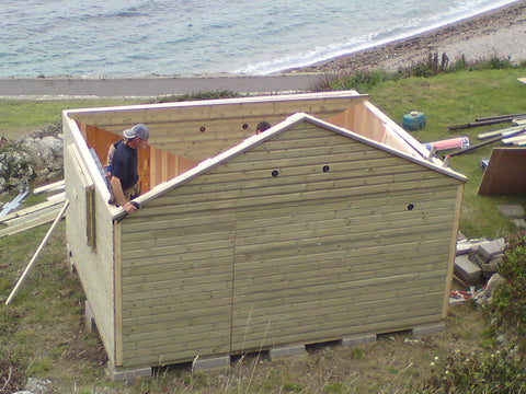 Mr & Mrs W– Portland Bill, Dorset – 14ft x 11ft Customised Beach Hut, Installation Photo 6