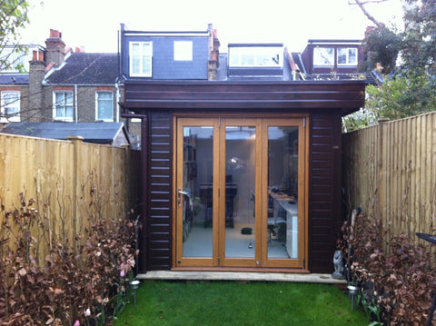 Ms S– London SW6 – 2.6m x 4.8m Contemporary Garden Office – 2.5m Maximum Height, Completed Photo 1